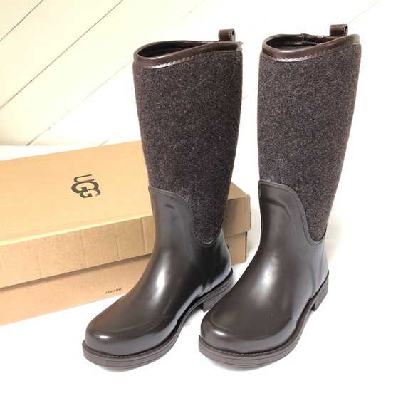 e04e0ab0daf NWT UGG® Reignfall dark brown rain boots NWT